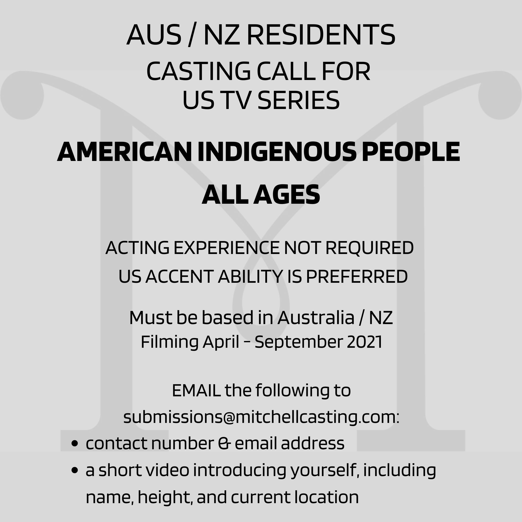 CASTING CALL: AMERICAN INDIGENOUS PEOPLE link image